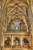 Organ at Cathedral of st. Vitus in Prague, Czech Republic. Hdr i Royalty Free Stock Photography