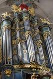 Organ in church Stock Photography