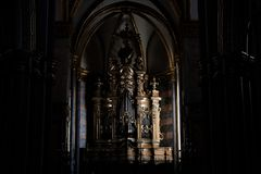 Organ of a church of Naples. stock photography