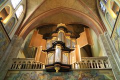 The organ in the Church of Saint Martin in Cuijk Netherlands Royalty Free Stock Photography