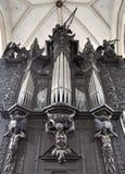Organ in church. St. James Church, the Czech Republic Royalty Free Stock Photo