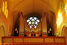 Organ in the church, Sweden, Europe Royalty Free Stock Photo