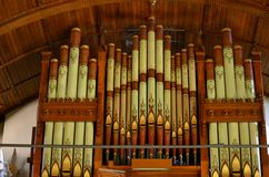 Organ in the church in Vermont Stock Photography