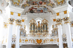 Organ in Church of Wies Royalty Free Stock Photos