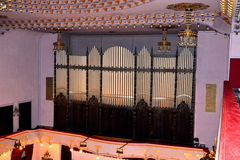 Organ in the Concert Room in the Palast of Culture in Targu-Mures, Romania. Targu Mures is a nice romanian town in the center of Transylvania Royalty Free Stock Photo