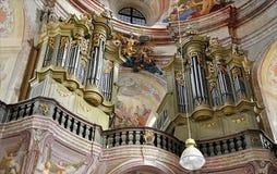Organ in der Kirche Lizenzfreie Stockfotos