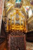 Organ in die Abtei von Montecassino Stockfotos