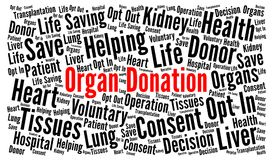 Organ donation word cloud. Illustration stock illustration