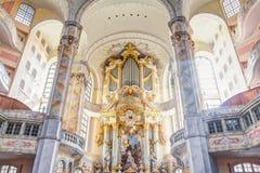 Organ in Dresden Stock Image