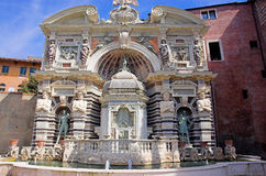 Organ fountain. Of Villa d'Este in Tivoli Royalty Free Stock Image