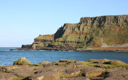 The organ at the Giants Causeway Northern Ireland. The most popular tourist destination in Northern Ireland. The strange hexagonal rocks stretch into the sea Stock Photography