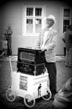 Organ grinder in Kampa Stock Images