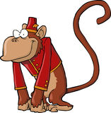 Organ grinder monkey. On a white background illustration Royalty Free Stock Images