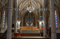 The organ hall of the Kaliningrad Philharmonic in the Church of Stock Photo
