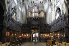 Organ Hall in Ripon Cathedral. Amazing and wonderful organ hall in Ripon Cathedral stock photos
