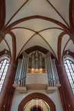 Organ in Heart Of Jesus Catholic Church in Lubeck, Germany Royalty Free Stock Photos