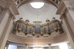 Organ in helsinki cathedral Royalty Free Stock Photography
