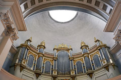 Organ of Helsinki Lutheran Cathedral. In Finland Stock Image