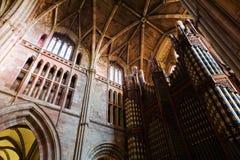Organ i det cathredral i Worcester Royaltyfri Fotografi