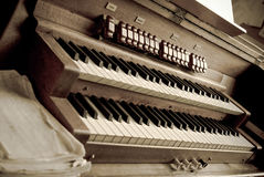 Organ i en kyrka Royaltyfria Foton