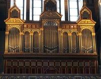 Organ i kyrkan arkivfoton