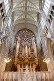 Organ i Lancing kapell i den Lancing högskolan, England Royaltyfri Fotografi