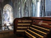 Organ i St. Stephens Cathedral Royaltyfria Bilder