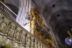 Organ.inside la cathédrale de Toledo, souillée Photos stock