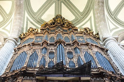 Organ inside of the Metropolitan Cathedral in Mexico City - Mexico. North America stock image