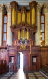 Organ in the interior of the Basilica of Our Lady of Mount Carme Stock Image