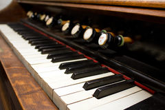 Organ keyboard Royalty Free Stock Image