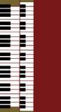Organ Keyboard on Red Stock Image