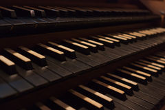 Organ keyboards Royalty Free Stock Images