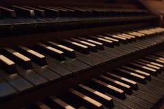 Organ keyboards Royalty Free Stock Images