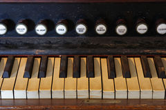 Organ Keys Royalty Free Stock Photography