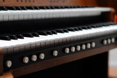 Organ Keys Royalty Free Stock Photo