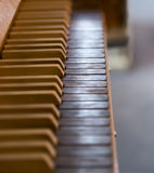 Organ Keys in Church Stock Photography