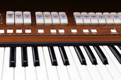 Organ Keys Stock Image