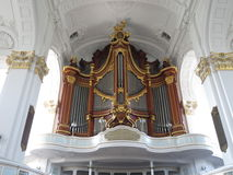 St. Michael Church. Organ. Hamburg, Germany. Organ Kirk Sankt Michaelis Hamburg Germany stock photo