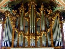 organ, kościół, muzyka, drymba, katedra, instrument, wnętrze, religia, architektura, musical, drymby, fajczany organ, katolik, st fotografia stock