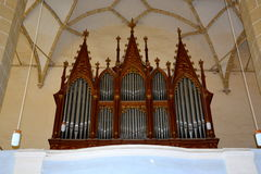 Organ of the medieval fortified church Biertan, Transylvania Royalty Free Stock Photography