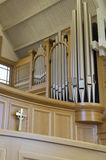 Organ In Modern Church Royalty Free Stock Image