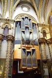 The organ in Montserrat basilica Royalty Free Stock Photo
