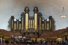 Organ Mormon Tabernacle Salt Lake City. Salt Lake Temple is the centerpiece of the 10-acre 4.0 ha Temple Square in Salt Lake City, Utah. The Salt Lake Temple is stock photos