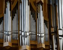 Organ musical instrument detail royalty free stock images