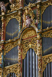 Organ in the New Cathedral of Salamanca Royalty Free Stock Images