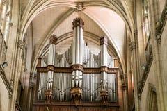 Organ od St Augustine ` s kościół w Hawańskim, Kuba Obraz Stock
