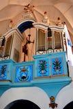 Organ in the old fortified church Dirjiu, Transylvania, Romania Royalty Free Stock Photo