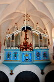 Organ in the old fortified church Dirjiu, Transylvania, Romania Stock Photos