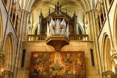 Organ ordnet, Notre Dame, Dijon, Frankreich Lizenzfreie Stockfotografie
